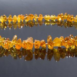 Колие кехлибар светъл мед от miteviminerals