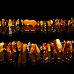 Колие кехлибар 4 цвята от miteviminerals